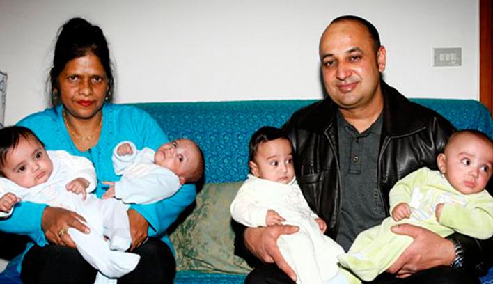 Italy, Quadruplet babies
